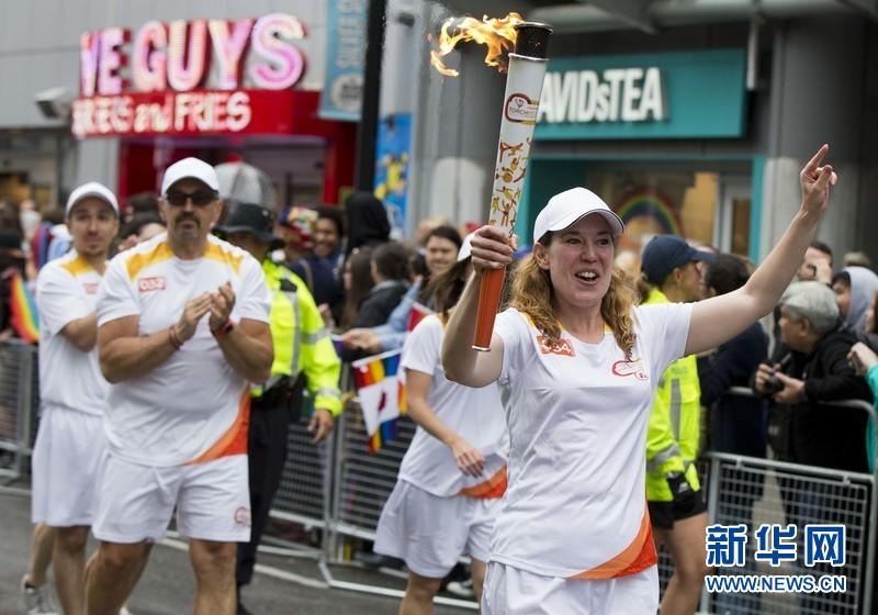 2015年6月28日,在加拿大多伦多,2015年多伦多泛美运动会火炬手