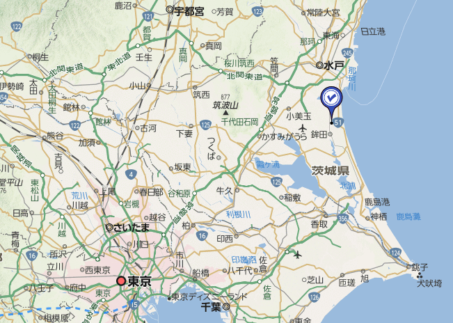 日本地?_地图中蓝色图标为案发地.(图片来源:雅虎日本网站