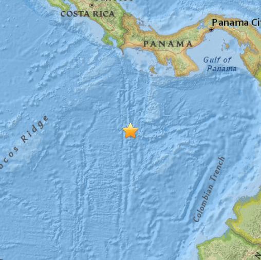 巴拿马南部海域发生5.0级地震 震源深度10公里