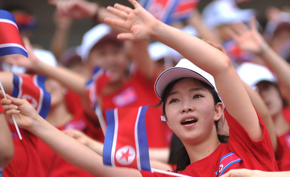 朝鲜宝贝啦啦队东亚杯惊艳亮相性感2018世界杯美女图片