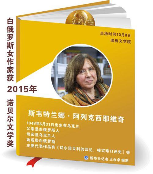 白俄罗斯女作家获2015年诺贝尔文学奖 - 昆仑玉 - 昆仑玉博客---智者乐山 仁者乐水
