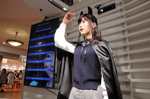 日本美女机器人美女首亮相中英日导游语(图石象湖三国图片