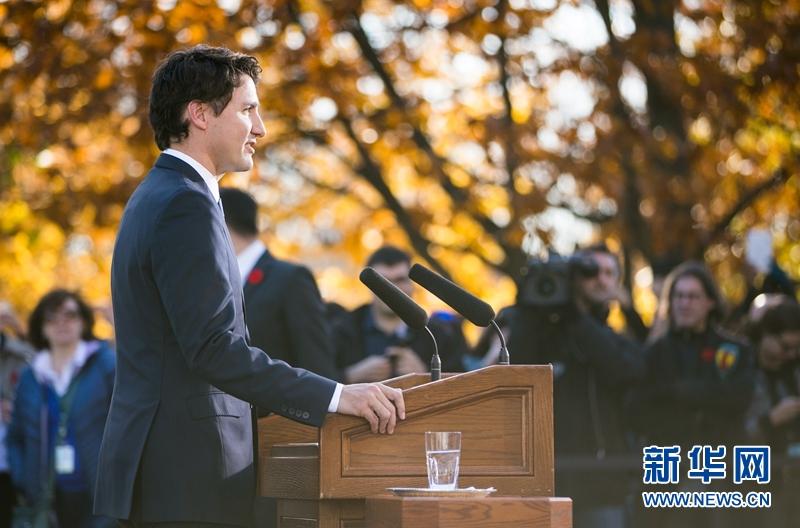 加拿大自由党领袖贾斯汀·特鲁多4日宣誓就任加拿大新一届联邦政