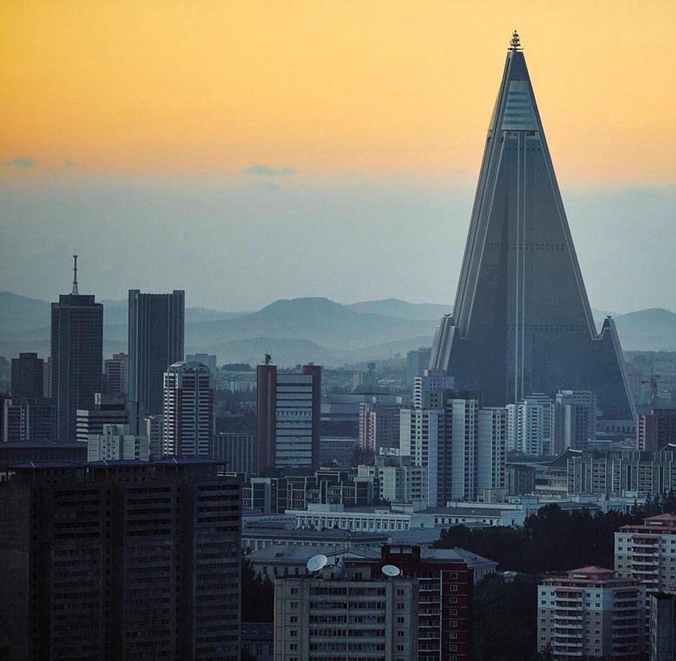 实拍朝鲜城市现代化时尚生活图片