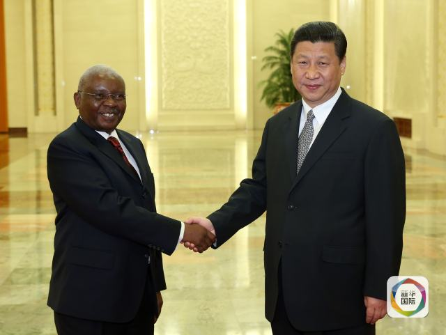 年5月13日,中国国家主席习近平在北京人民大会堂会见来华出席太图片