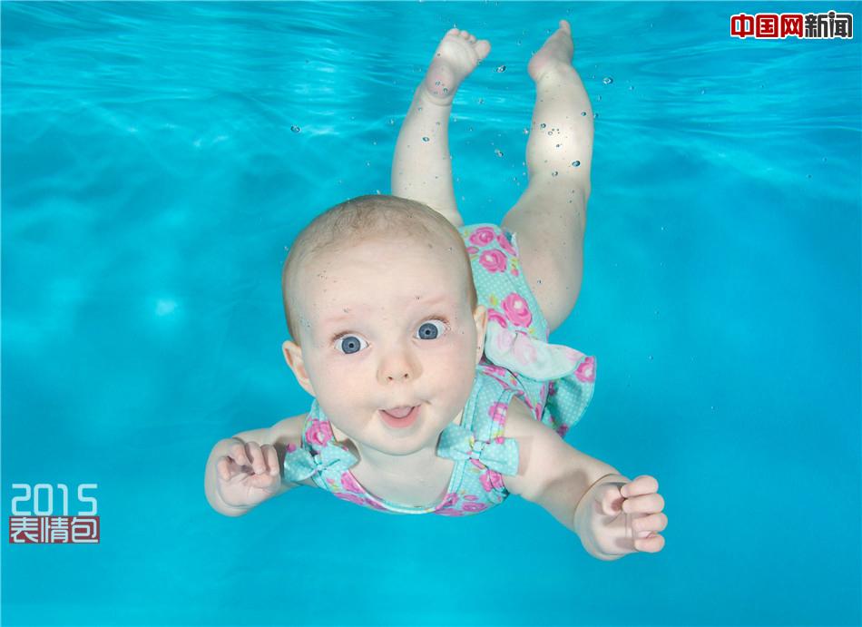 2015年10月16日,一名英国摄影师给小宝宝们拍摄了一组有趣的水下