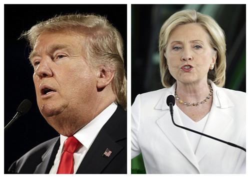 美大选初选:特朗普惹官司希拉里电邮门或成炸弹