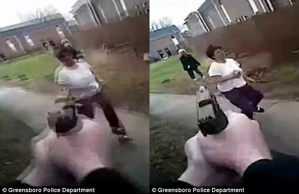 一越南来美女子持砍刀袭警被击毙全程(组图)