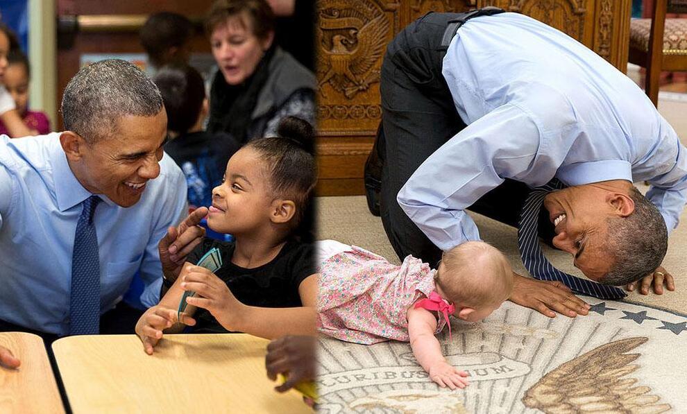盘点镜头下的奥巴马与孩子们(高清组图) - 雷石梦 - 雷石梦