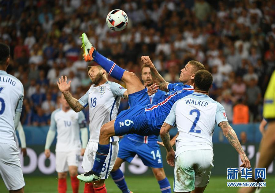 (欧锦赛)(17)足球——八分之一决赛:英格兰队对阵冰岛队