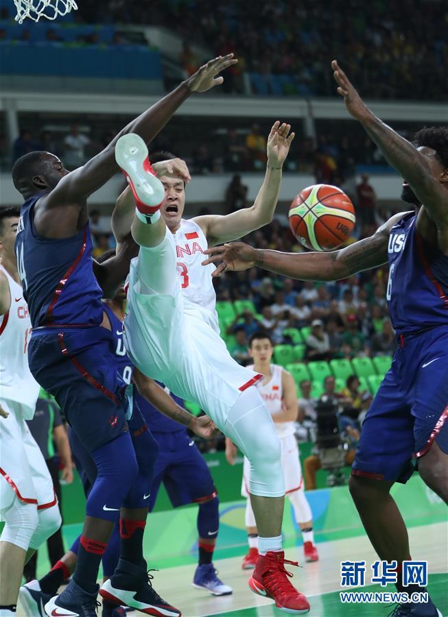 奥运会男篮小组赛:中国62比119不敌美国(图)