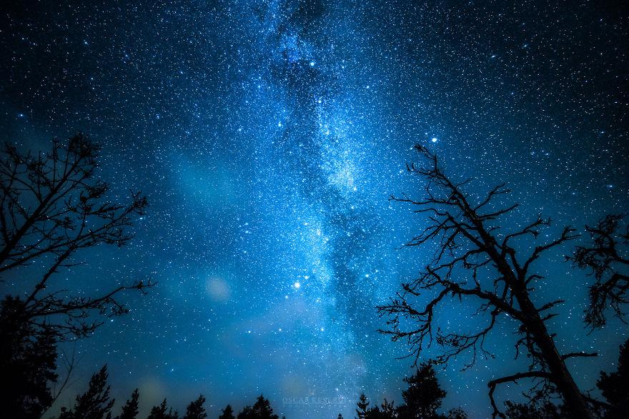 震撼星空:零下30度的蓝色寒冷夜空(高清组图)