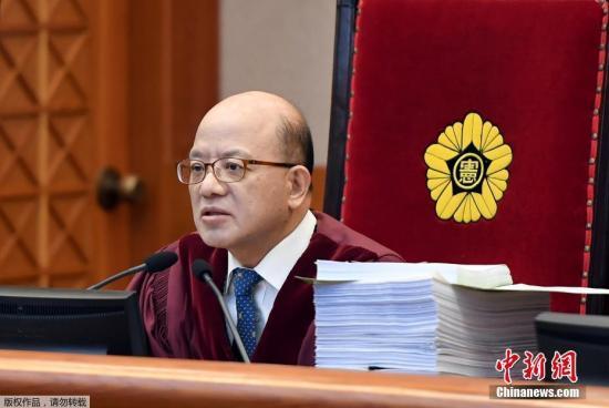 当地时间2017年1月5日,韩国首尔,韩国宪法法院举行总统朴槿惠弹劾案第二次公开庭审辩论。