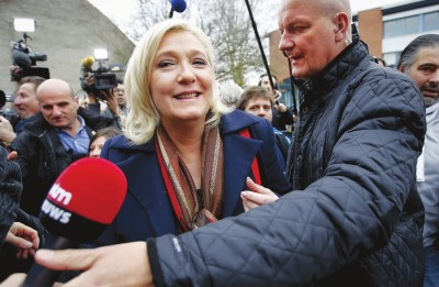 法国总统选举:马克龙添助力 勒庞遭遇挫折