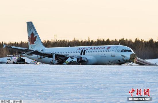 加拿大航空一客机在多伦多着陆时滑出跑道