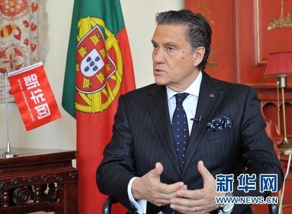 """葡萄牙驻华大使:葡萄牙愿积极参与""""一带一路""""倡议"""