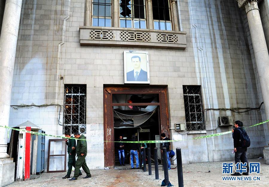 (国际)(1)叙利亚首都法院遭自杀式袭击致43人死亡