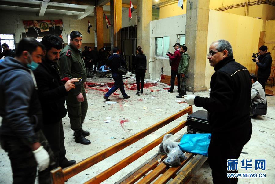 (国际)(2)叙利亚首都法院遭自杀式袭击致43人死亡