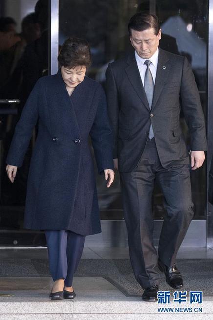 (国际)(2)韩前总统朴槿惠经21小时调查后回家