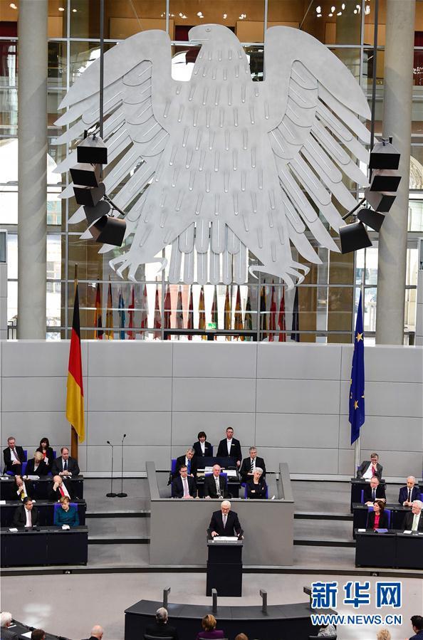 (外代一线)(1)德国新总统施泰因迈尔宣誓就职