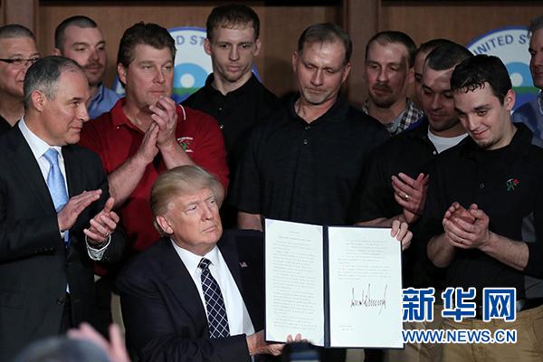详讯:特朗普签署行政命令推翻奥巴马政府气候政策