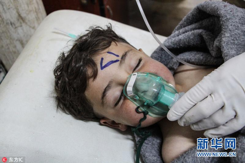 媒体称叙利亚遭毒气袭击 致100死包括数名儿童