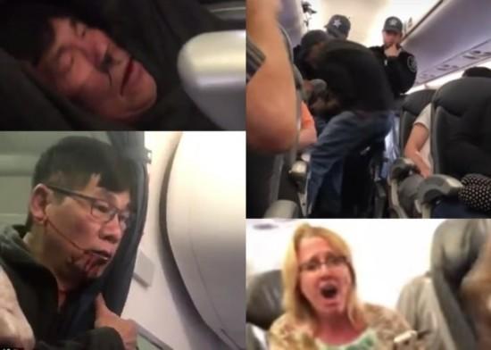 美国联合航空华裔乘客被强行拖拽下机引哗然