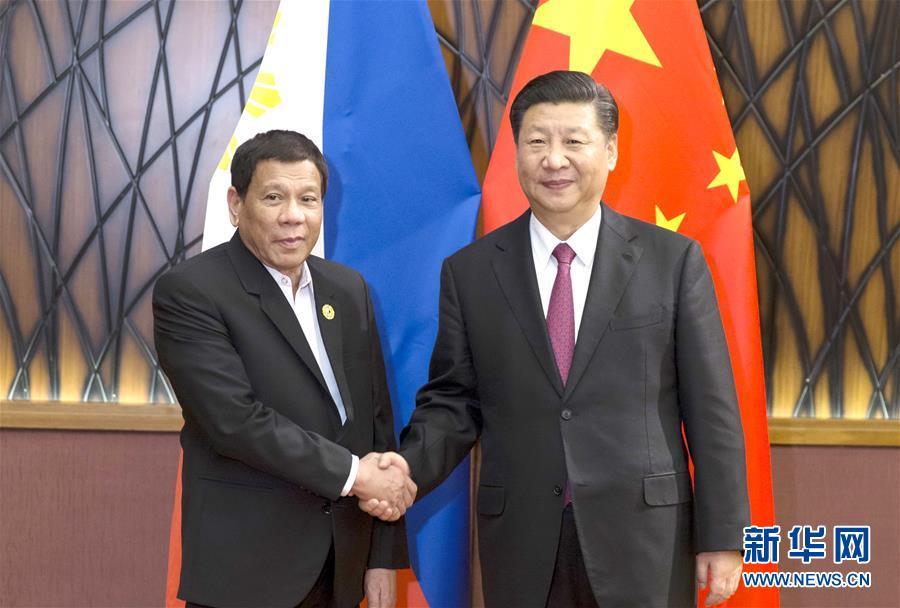 (时政)习近平会见菲律宾总统杜特尔特