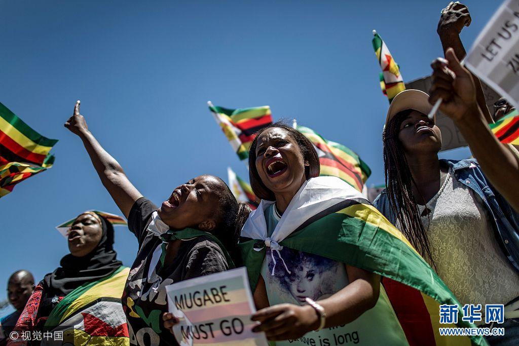 津巴布韦民众游行 要求总统穆加贝下台