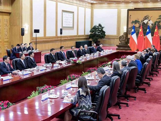 習近平同智利總統舉行會談