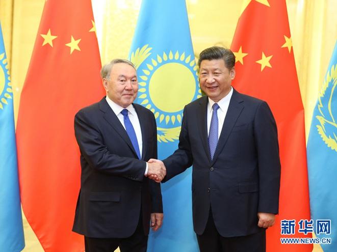習近平會見哈薩克斯坦總統