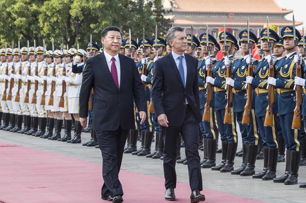 習近平同阿根廷總統馬克裏舉行會談