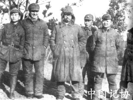 苏静将军与罗荣桓 奥地利医生等合影