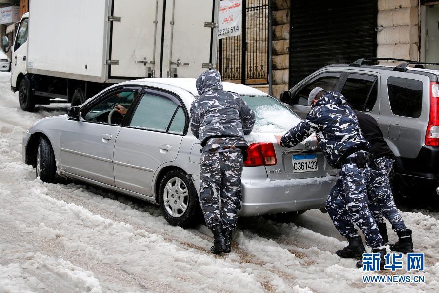 暴风雪昨日袭击黎巴嫩部分地区