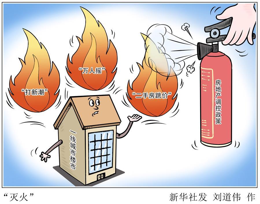 """(图表·漫画)[财经探讨·稳健开局·热点怎么看]""""灭火"""""""