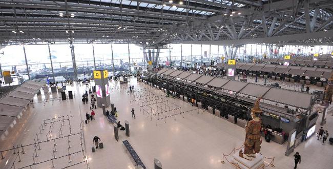疫情下的泰國素萬那普國際機場