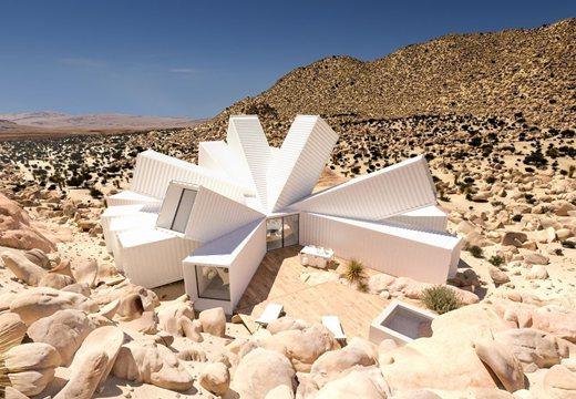 建築師在加州荒漠打造集裝箱創意住宅 宛如墜落的外星飛船