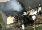 美國一架輕型飛機墜落民房