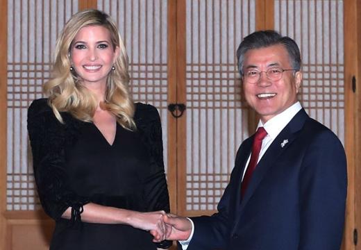 特朗普女兒伊萬卡抵韓訪問 文在寅設晚宴盛情款待