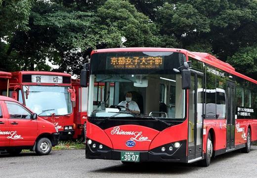 實拍日本京都街頭的中國電動巴士