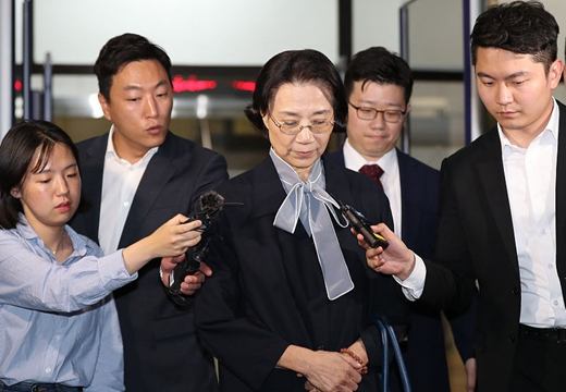 韓進集團會長夫人李明姬接受傳喚
