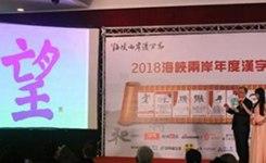 """""""望""""字當選2018海峽兩岸年度漢字"""
