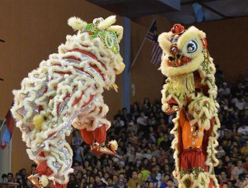 馬來西亞沙巴州舉行龍麒獅大團拜