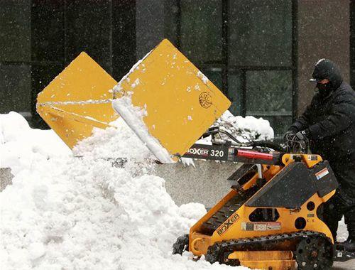 暴風雪襲擊美國芝加哥地區