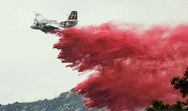 美國加州突發森林火災 出動消防飛機滅火