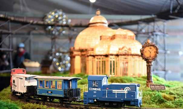 迷你火車展上的微縮紐約