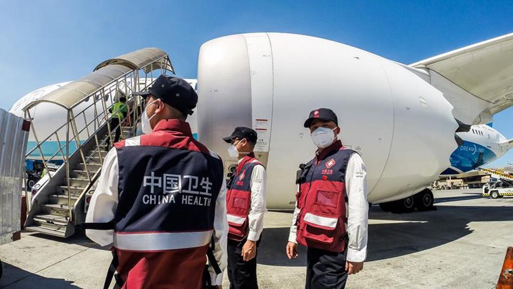 中國抗疫醫療專家組抵達菲律賓