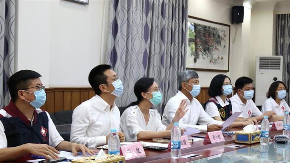 中國赴緬醫療專家組向中資企業等傳授防疫知識