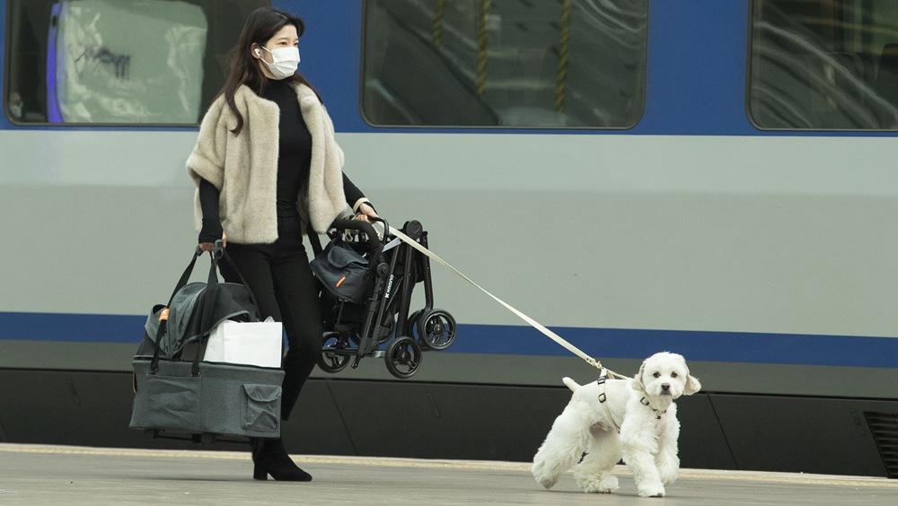疫情下韓國迎春節出行高峰