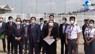 柬埔寨採購的一批中國新冠疫苗運抵金邊
